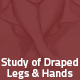 Hover Thumbnail for Study of draped legs & Hands